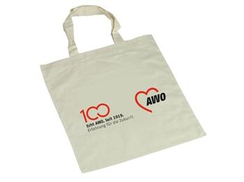 AWO 100-Jahre-Baumwolltaschen, 10 Stück (Art.-Nr. 62022)
