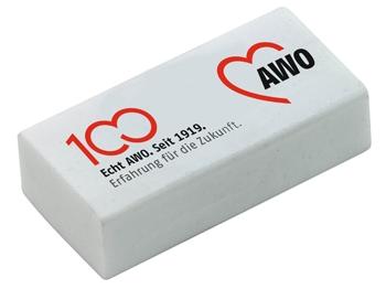AWO 100-Jahre-Radiergummi, 10 Stück = 1 VPE (Staffelpreise beachten) (Art.-Nr. 62131)
