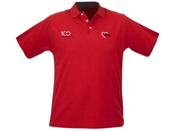 AWO 100-Jahre-Polohemd, rot, 1 Stück (verschiedene Größen lieferbar) (Art.-Nr. 62325)
