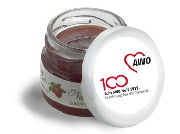 AWO 100-Jahre-Mini-Marmeladen-Gläschen, 60 Stück (Art.-Nr. 62344)