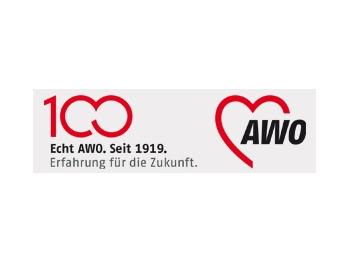 AWO 100-Jahre-Aufkleber 100 x 30 mm, transparent, 100 Stück (Art.-Nr. 62392)