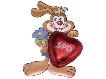 SPD Hase mit Herz, 75 Stück (Art.-Nr. 1277)