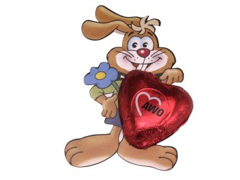 AWO Hase mit Herz, 75 Stück (Art.-Nr. 2255)
