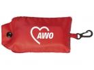 AWO Falttasche, mit Kunststoff-Karabinerhaken, 10 Stück (Art.-Nr. 2374)