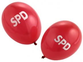SPD Luftballons rot, 100 Stück = 1 VPE (Staffelpreise beachten) (Art.-Nr. 1000)