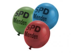SPD Luftballons farbl. sort. mit Sonderdruck, 1000 Stück = 1 VPE (Staffelpreise beachten) (Art.-Nr. 1001SD)