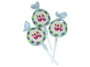 """SPD Lollies """"14.5. SPD"""", 100 Stück = 1 VPE (Staffelpreise beachten) Art.-Nr. 1070a)"""