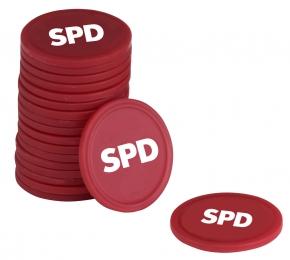 SPD Einkaufswagenchip OHNE Halter, 100 Stück = 1 VPE (Staffelpreise beachten) (Art.-Nr. 1107)