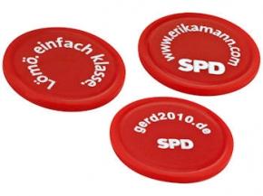 SPD Einkaufswagenchip OHNE Halter mit Sonderdruck, 5000 Stück = 1 VPE (Staffelpreise beachten) (Art.-Nr. 1107SD)