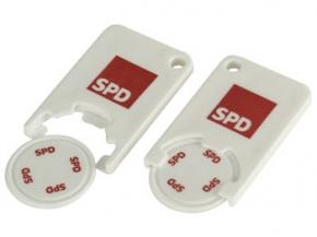 SPD Einkaufswagenchip, 100 Stück = 1 VPE (Staffelpreise beachten) (Art.-Nr. 1148)