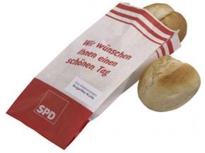 SPD Brötchentüten mit Sonderdruck, 500 Stück = 1 VPE (Staffelpreise beachten) (Art.-Nr. 1281SD)
