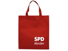 SPD Vliestasche rot Sonderdruck, 250 Stück = 1 VPE (Staffelpreise beachten) (Art.-Nr. 1312SD)