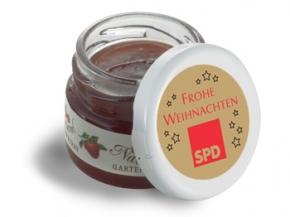 SPD Mini-Marmeladen-Gläschen