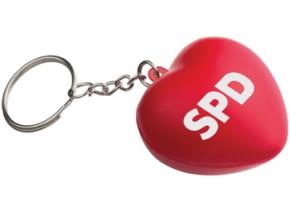 "SPD Schlüsselanhänger ""Squezzie-Herz"", 10 Stück = 1 VPE (Art.Nr. 1319)"