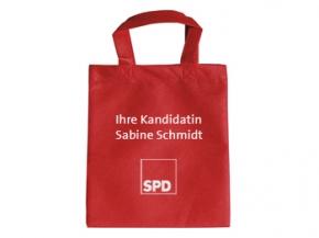 SPD Mini-Vliestasche rot, Sonderdruck, 500 Stück= 1 VPE (Staffelpreise beachten) (Art.-Nr. 1326SD)