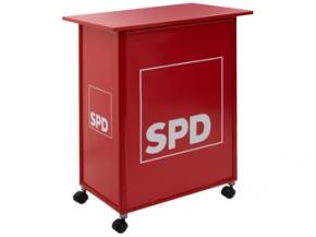 SPD Promotion-Tisch/Theke, rot, 1 Stück (Art.-Nr. 1334)
