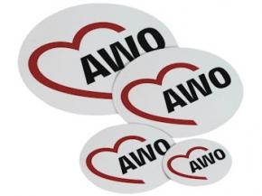 AWO Aufkleber, 20 cm Ø, 10 Stück (Art.-Nr. 2095)