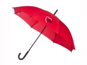 AWO Automatik-Regenschirm rot, 1 Stück (Art.-Nr. 2012)