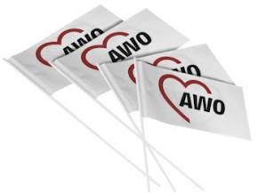 AWO Papierfähnchen, 100 Stück (Art.-Nr. 2025)
