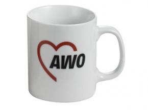 AWO Kaffeebecher, weiß, 6 Stück = 1 VPE (Staffelpreise beachten) (Art.-Nr. 2044)