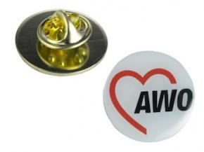 AWO Anstecknadeln (Pins) 2 cm Ø, 10 Stück (Art.-Nr. 2069)