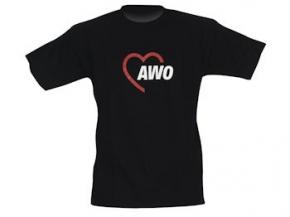 AWO T-Shirt 180 g-Qualität, schwarz, Gr. L, 1 Stück (Art.-Nr. 2080-L)