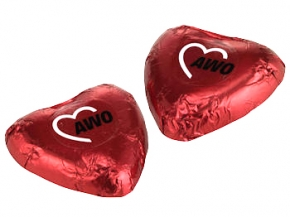AWO Schokoladenherz, 100 Stück (Art.-Nr. 2148E)