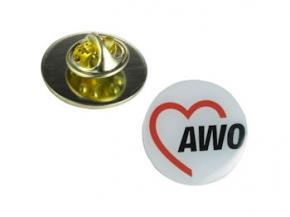 AWO Anstecknadeln (Pins) 1 cm Ø, 10 Stück (Art.-Nr. 2174)