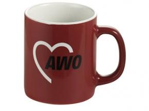 AWO Kaffeebecher, rot, 6 Stück = 1 VPE (Staffelpreise beachten) (Art.-Nr. 2202)