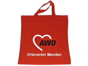 AWO Vliestasche rot Sonderdruck, 250 Stück = 1 VPE (Staffelpreise beachten) (Art.-Nr. 2206SD)