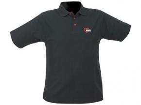 AWO Polohemd, schwarz mit roten Knöpfen, Gr. XXS (164), 1 Stück  (Art.-Nr. 2326-XXS)