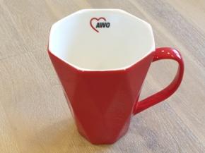 AWO Kaffeebecher RAUTE, 6 Stück = 1 VPE (Staffelpreise beachten) (Art.-Nr. 2432)