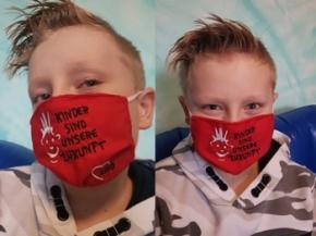AWO KINDER-Mund-Nasen-Maske, rot, 1 Stück = 1 VPE (Art.-Nr. 2436)