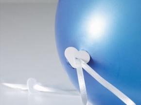 Ballon Fix Verschlüsse mit Polyband für Heliumfüllung, 100 Stück (Art.-Nr. 3007)